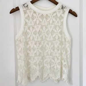 ANTHROPOLOGIE Scalloped Lace Cami